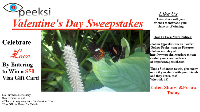 Celebrate Love with a Valentine's Day Sweepstakes